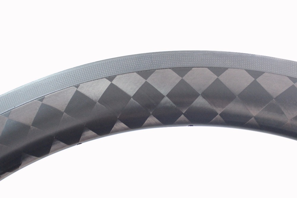 2018 MILAGRE Clincher Tubular de Carbono Barato Bicicleta de Estrada de Bicicleta Jantes de superfície de frenagem 27mm 18 k Fosco - 2
