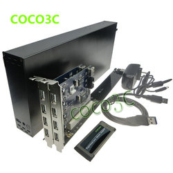 King size laptop expresscard 34 to 2 pci 32bit slots adapter riser card for pci sound.jpg 250x250
