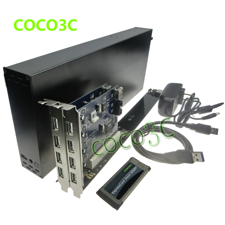 King-size Laptop Expresscard 34 To 2 PCI 32bit slots adapter Riser card for PCI Sound Card Network card graphics card