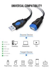 Image 2 - VOXLINK 5 paket USB 2.0 uzatma kablosu PC Laptop için erkek kadın USB şarj Sync veri uzatma kablosu 1M 1.8M 3M 5M