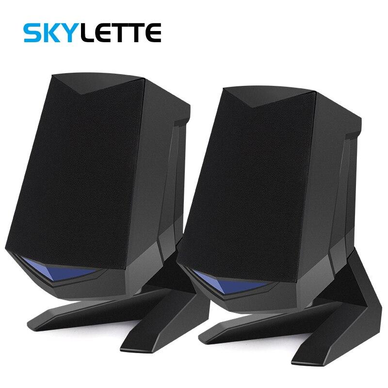 1 Paar Wired Computer Lautsprecher Usb Aux Bass Verstärkung Pc Lautsprecher Für Laptop Desktop Telefon 6 W Audio Multimedia Lautsprecher Entlastung Von Hitze Und Sonnenstich