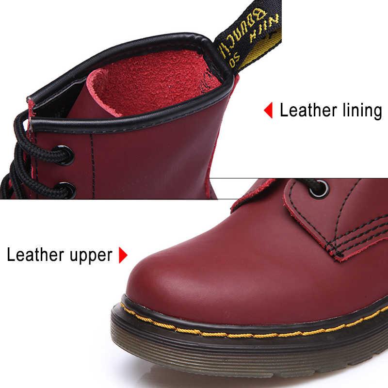 รองเท้าแฟชั่นสำหรับรองเท้าผู้หญิงคนรักของแท้หนัง Martin รองเท้าผู้หญิงฤดูหนาวรองเท้าผู้หญิงรองเท้า Booties PLUS ขนาด 43