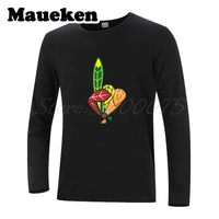 Men Top Quality Chicago WE ARE NUMBER ONE Autumn Winter Blackhawk T Shirt Long Sleeve For