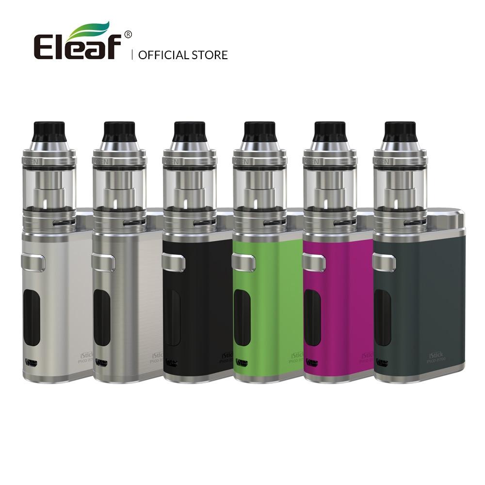 Original Eleaf iStick Pico 21700 avec kit ELLO 1-100 W 0.91 pouces OLED écran HW1-C/HW2 bobine cigarette électronique