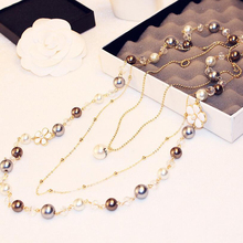 2017 Fragrant Long Sweater Chain Necklace&pendant Luxury flower Pendant Necklace for women Natural Fashion Jewelry