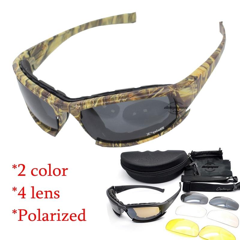 Syzet Daisy Taktike 4LS Burra Syzet e Polarizuara të Diellit Diellor Polarizues Aircoft Të shtëna Gafas Motor Biçikletë Diçikleta