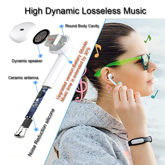 Hot Selling Wireless Bluetooth Earbuds i7 TWS Earphones Twins Earpieces Stereo Headset Casque Sans Sport Charger Box Headphones 4