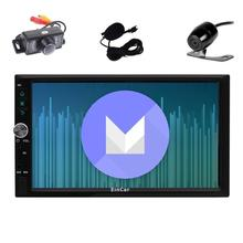 "2 Din Car Stereo Android 6.0 7""Full touch screen Car Radio Player GPS Navigation NO-DVD 1080P Video/WiFi/Mirrorlink+Dual Camera"