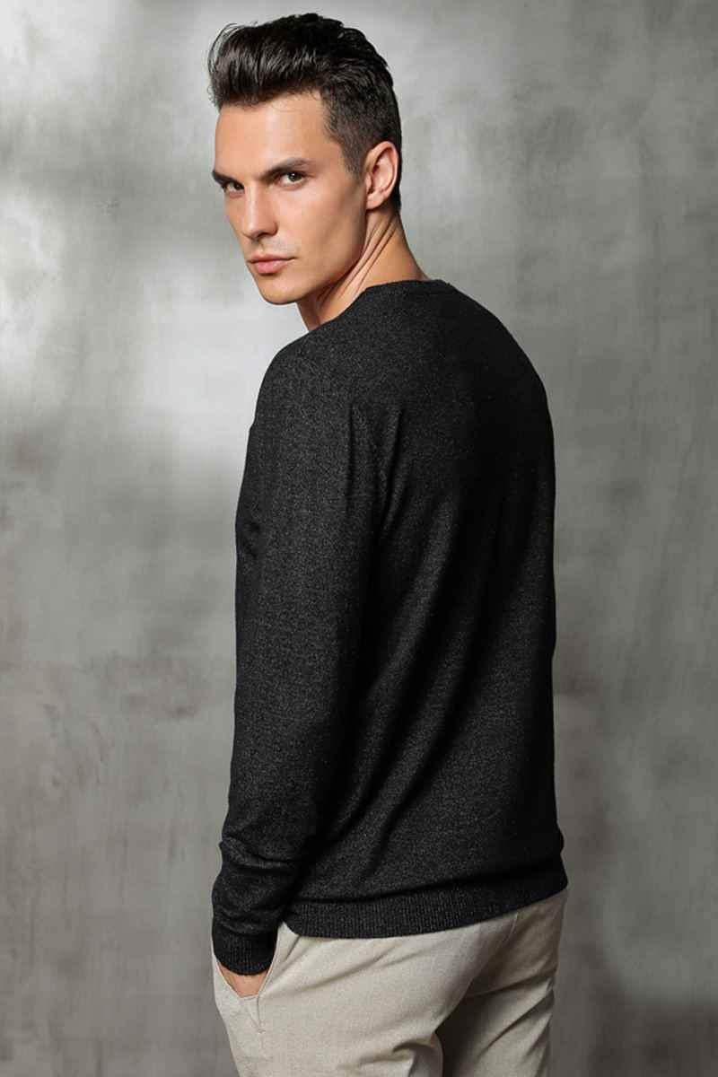 Suéter de invierno para hombre cuello redondo suéteres de punto para hombre casual otoño cachemir pulóveres para hombre grueso cálido Jersey talla grande