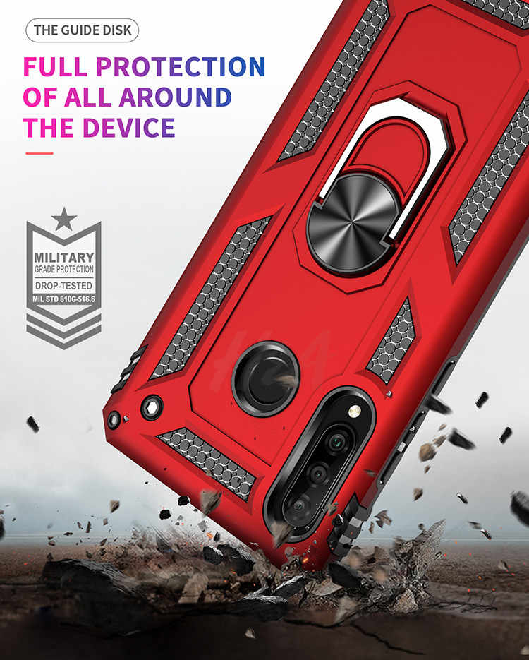 H&A Shockproof Armor Case For Xiaomi Redmi 7 Note 7 Pro Phone Case For Huawei P30 Lite Pro P Smart 2019 Car Holder Ring Case