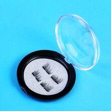4ชิ้นเท็จแม่เหล็กขนตา6Dแม่เหล็กขนตาคู่แม่เหล็กปลอมตาขนตามือทำแถบขนตาชุดcilios posticos