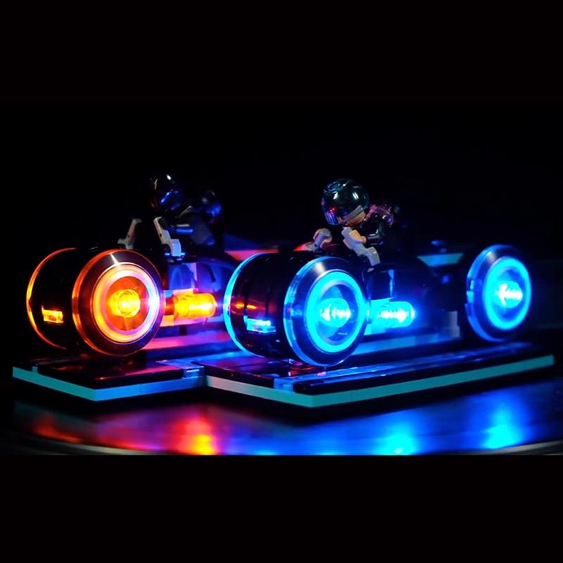 Led Lumière Ensemble Pour Lego 21314 Ninjagoed Idées Tron Maste Héritage Lumière Cycles Blocs de Construction Briques Jouets (seulement lumière + batterie boîte)