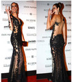DAC834   Free Shipping  Black Lace Applique Sheer Illusion Back  One-Shoulder Long Sleeve Red Carpet Celebrity Dresses