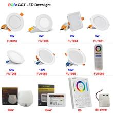 MiBOXER 6W/9W/12W/15W/18W RGB+CCT LED Downlight AC110V 220V Dimmable  FUT061/FUT063/FUT066/FUT068/FUT069
