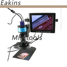 On sale 2.0MP HD 2in1 Industry Digital Microscope Camera + 8″ LCD Monitor + Stand Holder + C-Mount Lens + 56 LED Ring Right