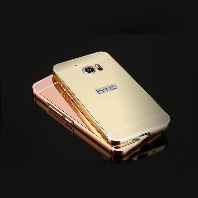 htc 10 case gold. rose gold mirror phone shell back cover case for htc 10 / one m10 htc e