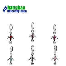 Jewelry accessories creative DIY bracelet  crystal aircraft alloy large hole beads pendant DGB286