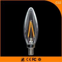 50 шт. 2 Вт E14 E12 светодиодные лампы, c32 светодиодные свечи накаливания лампы 360 градусов свет лампы Винтаж подвесные светильники AC220V