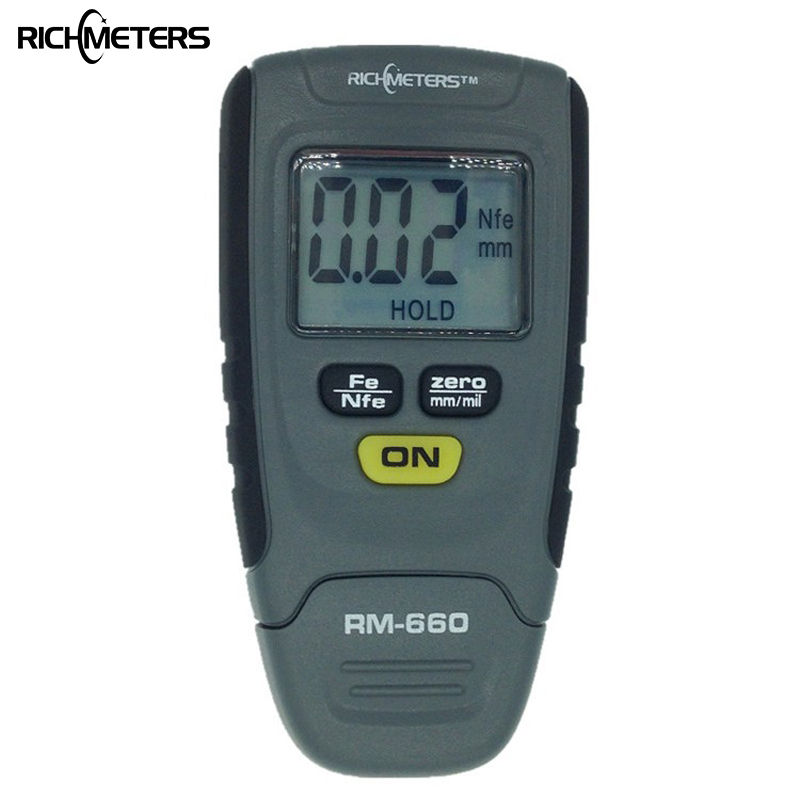 RM660 Digital Paint Coating Thickness Gauge 0 1 25mm Coating Meter Car Thickness Meter Instrument Iron