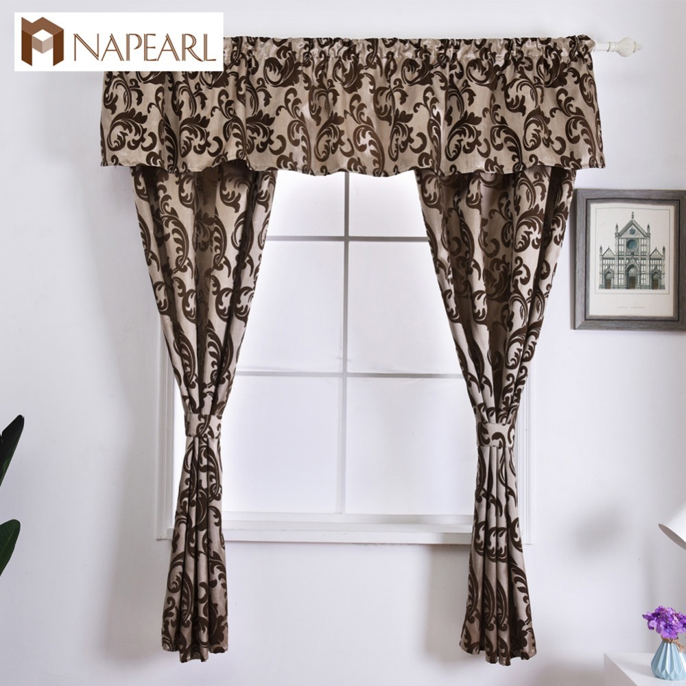 Sewing Kitchen Curtains: NAPEARL Rustic Decorative Kitchen Curtain Hanging Pelmet