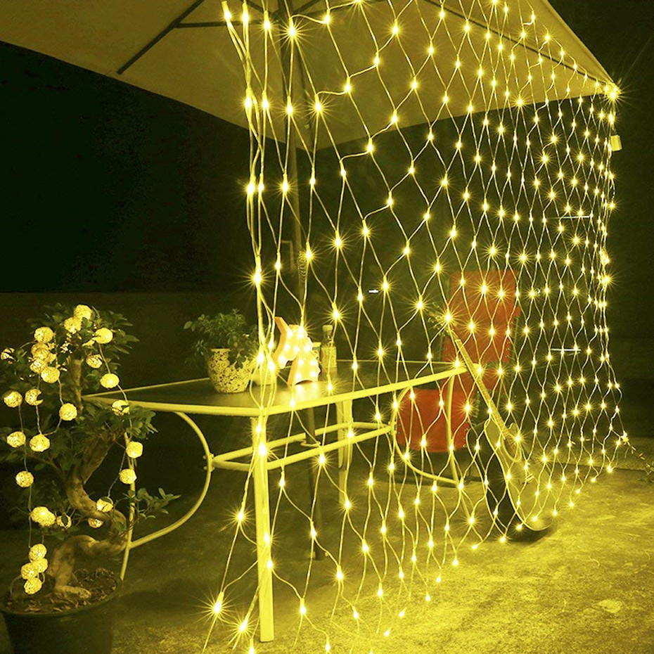 String Lights Waterproof Led String Lights Outdoor Net Mesh String Light RGB White Warm White Blue Indoor/Outdoor Decoration 40 led grinding white ball christmastree string lights decorated colored lamp