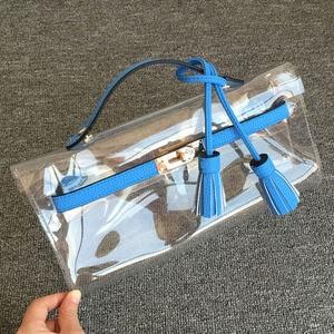 Image 2 - SUNNY BEACH Women Luxury Handbags Women Bags Designer Purse Clear women Bag Day Clutch Purse Female Messenger Bag