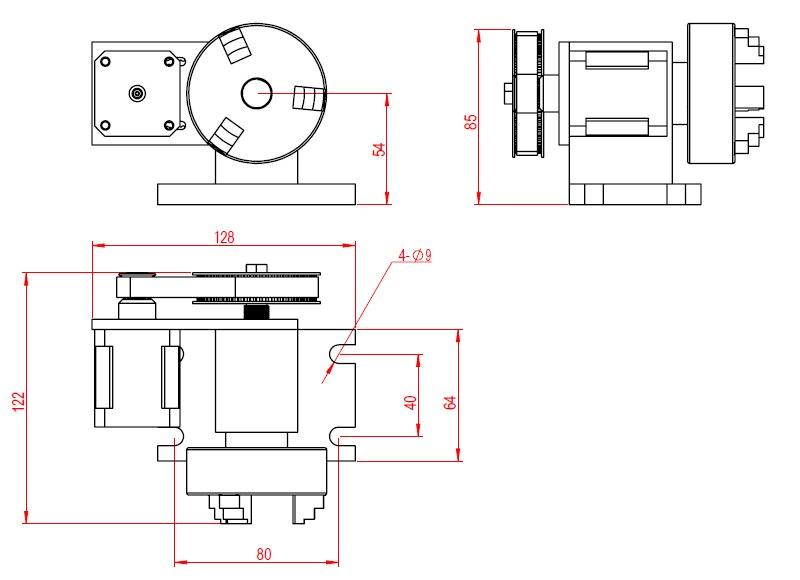 65mm Chuck 4th axis (7)