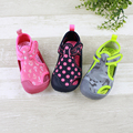 039 Retail 2016 New Summer Fashion Baby Girls Sandals Dot Hook & Loop Flat Heels Baby Girls Shoes Hollow Out Lolita