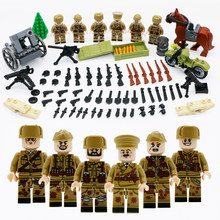 WW2 Army Soldier Building Blocks Special Force Figure Weapon Gun Soviet Armed Bricks Toys For Boy Compatible LegoINGlys Military(China)