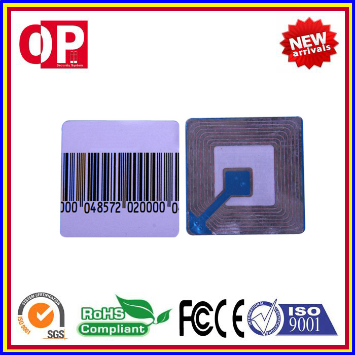 New High Sensibility Eas Anti-theft Soft Label Eas Rf Soft Label For Supermarket And Bookstore