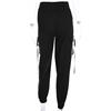 HEYounGIRL Streetwear Cargo Spodnie damskie casual Joggersy czarny wysokiej talii luźne damskie spodnie koreański styl Panie spodnie Capri