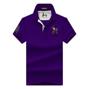 Image 4 - คุณภาพสูงเสื้อผู้ชายเสื้อโปโลเสื้อ plus ขนาดเสื้อโปโลสีเย็บปักถักร้อยสั้นเสื้อโปโลเสื้อ