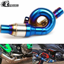 For Kawasaki Z800 Z 800 2013 2014 2015 2016 Motorcycle Connecting Mid Link Pipe Slip on Exhaust Exhaust Pipe Connector Adapter