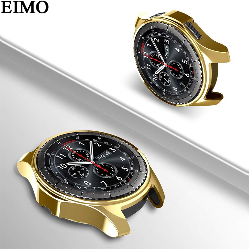 EIMO Watch case for samsung Gear S3 frontier band Replacement TPU All-Around protective bumper shell cover frame edges around rock protective tpu pc bumper frame case for iphone 6 4 7 orange