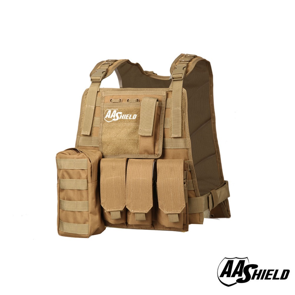 AA Shield Molle Hunting Plates Carrier MBAV Style Military Tactical Vest / TAN aa shield camo tactical scarf outdoor military neckerchief forest hunting army kaffiyeh scarf light weight shemagh desert dig