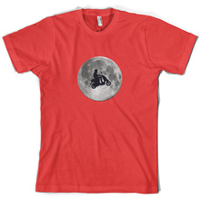 Moped Moon - Mens T-Shirt Scooter Mod Motorbike 10 Colours Mans Unique Cotton Short Sleeves O-Neck T Shirt Black Style