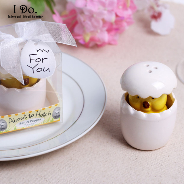 free shipping chick salt & pepper shaker wedding favors and gifts