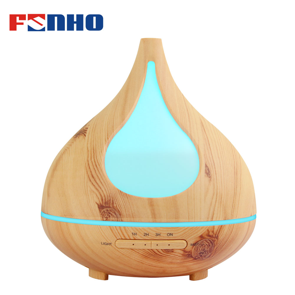 FUNHO 300ml Aroma Humidifier Ultrasonic Air Aromatherapy Essential Oil Diffuser Night Light Steam Mist Maker For Home X030