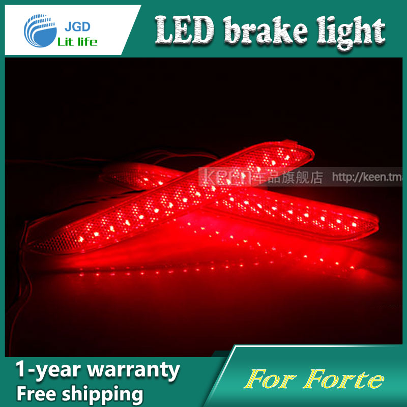 Car Styling Rear Bumper LED Brake Lights Warning Lights case For KIA Forte 2014 Accessories Good Quality купить