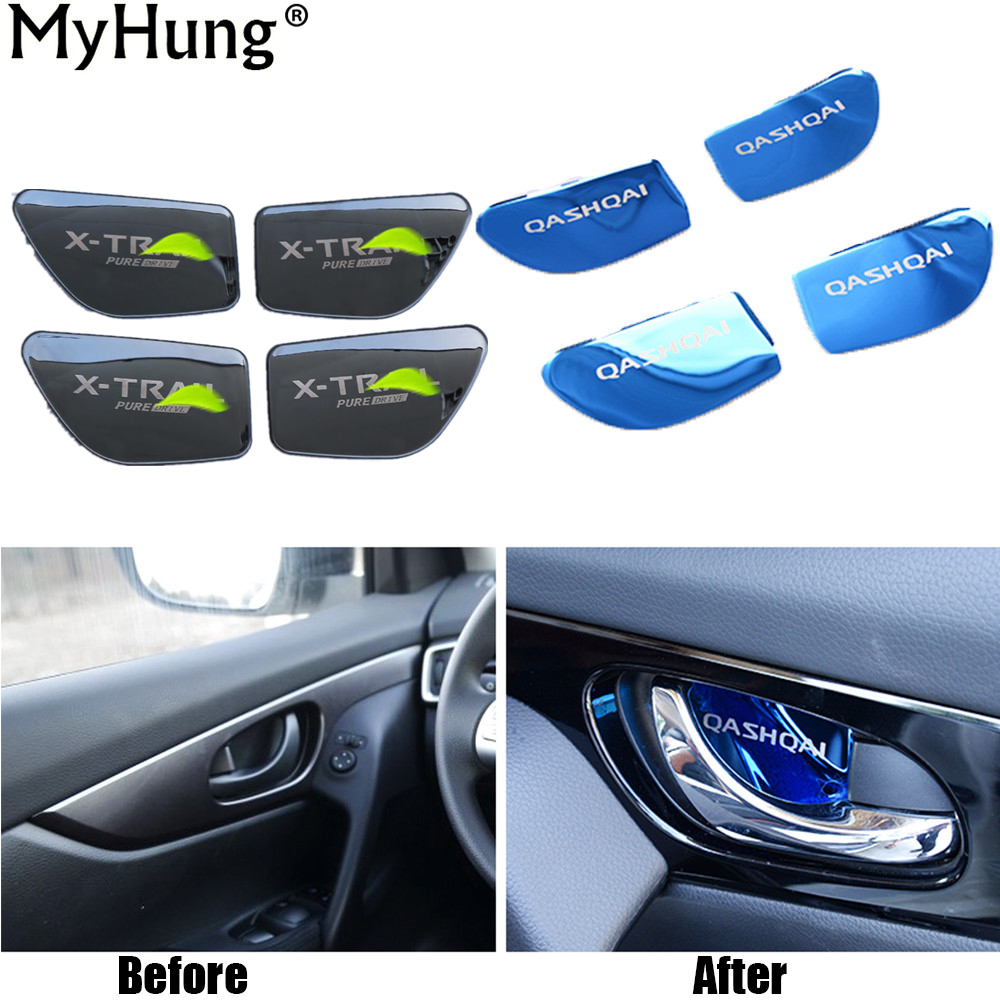 Car Styling Door Handle Cover Door Handle Bowl Trim For Nissan Qashqai 2016 Xtrail X-trail X trail 2014 To 2017 Car Accessories цена