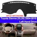TAIJS del tablero de instrumentos del coche cubierta Dash Mat para Toyota Sienna XL20 2004, 2005, 2006, 2007, 2008, 2009, 2010 no-slip alfombrilla de sombra solar