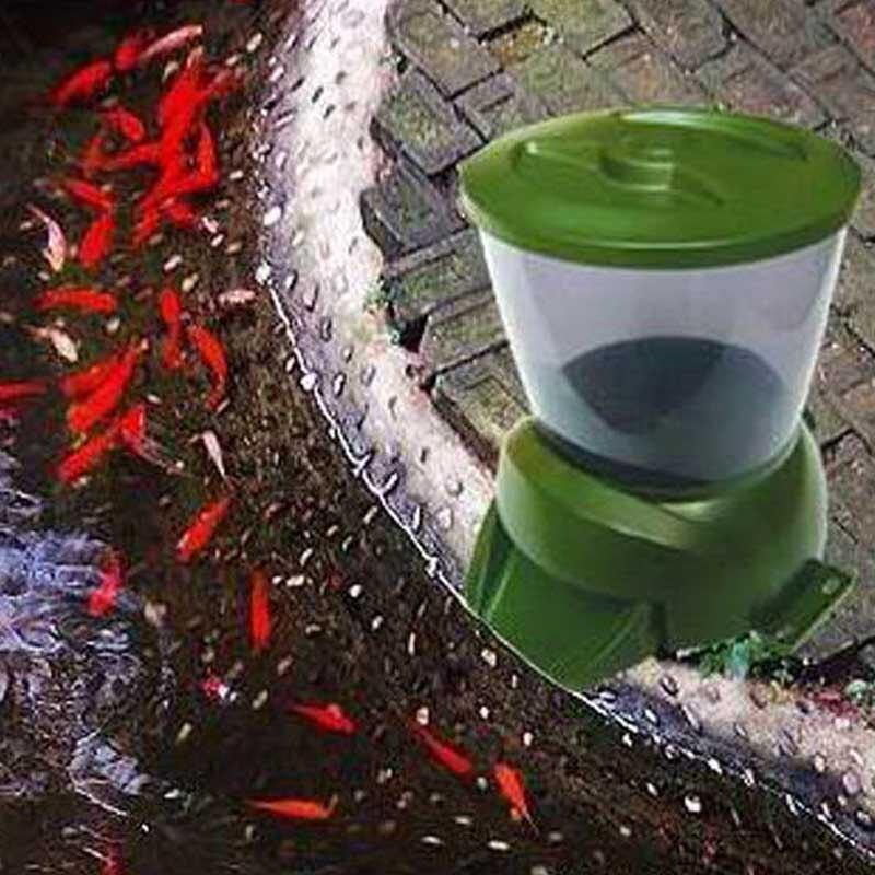 4.25L trémie alimentaire affichage LCD numérique automatique étang réservoir de poissons Aquarium chargeur horloge détachable Base autonome montable