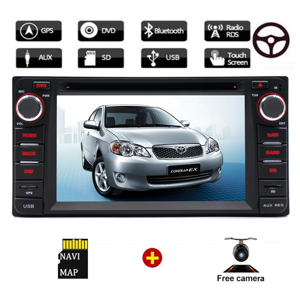 Lecteur CD DVD de voiture 2 Din Navigation GPS pour Toyota Corolla 2004 2005 2006 2007 lecteur multimédia stéréo Auto Radio voiture