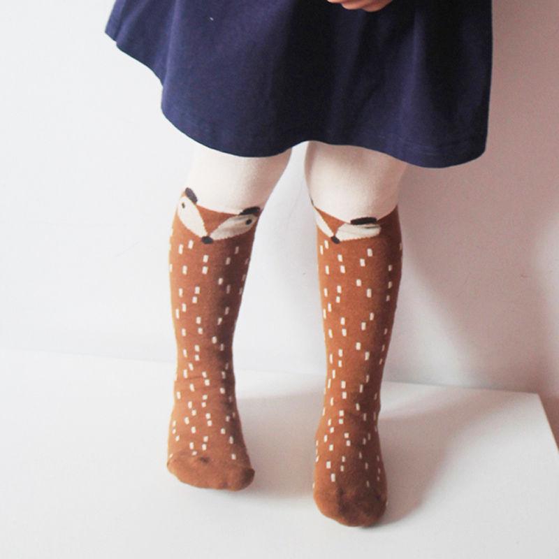 Cute Baby Mädchen Kinder Leggings Nette Fuchs Weiche Baumwolle Qualität Dünne Strumpfwaren Kleinkind Mädchen Legging Kleidung 1-5y 2016 Neue