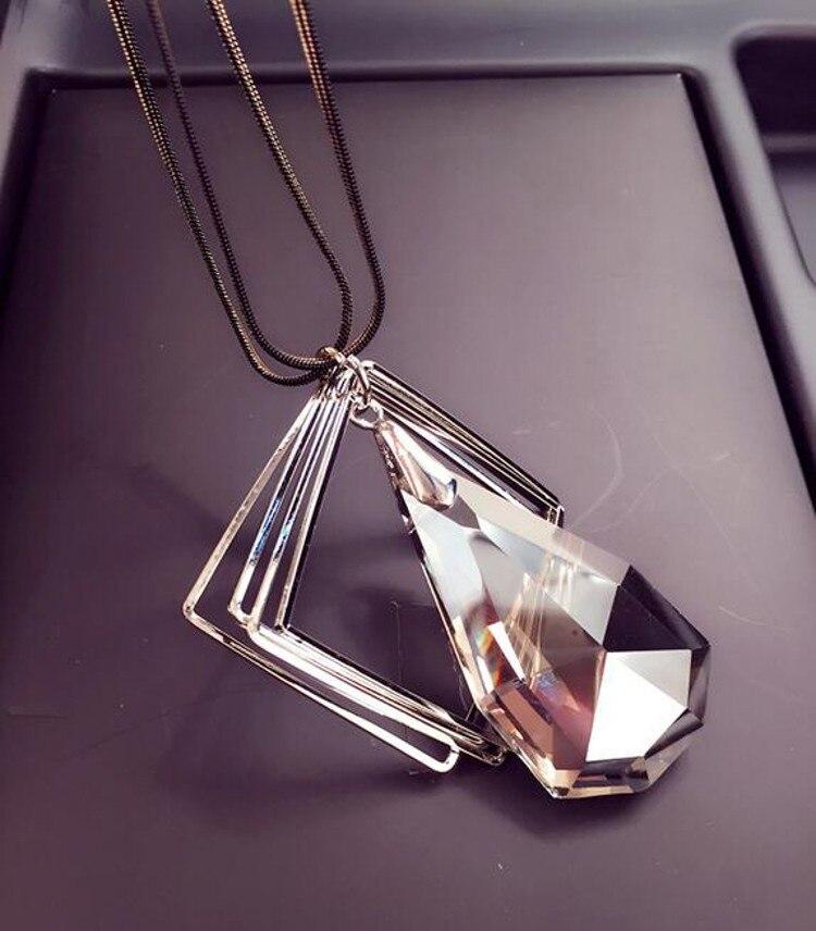 Meyfflin μακρύ κολιέ κρύσταλλο γυναίκες - Κοσμήματα μόδας - Φωτογραφία 3