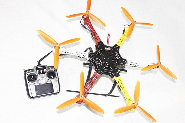 F05114-AF F550 Hexa-Rotor Frame FlameWheel Kit RTF UFO Gemonteerd Kit met Landingsgestel Radiolink AT10 TX & RX GEEN Batterij Adapter