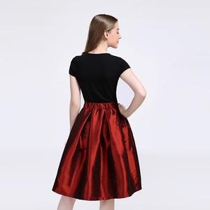 Image 5 - 2020 mode Lange Röcke Frauen Faldas Hohe Taille Gefaltete Womans Bodenlangen Rock Plus Größe Elastische Elegante Damen Jupe Röcke
