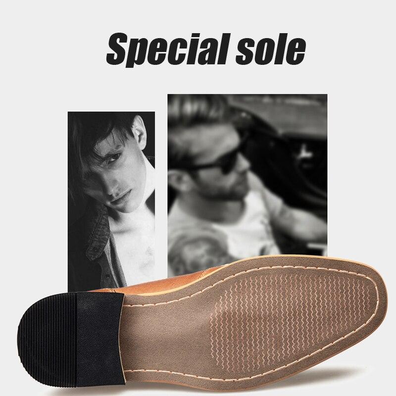 YIGER nouveaux hommes robe chaussures chaussures formelles hommes à la main affaires chaussures de mariage grande taille en cuir véritable chaussures à lacets mâle 0249 - 4