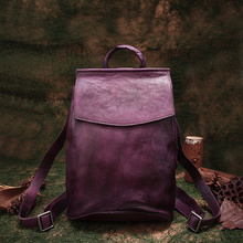 Autumn School Bags Vintage Genuine Leather Backpack British Style Leisure Shoulder Bags 2018 Latest Cowhide Travel