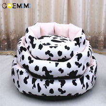 Dog Bed Cat Soft Pet Pad Milk Cow Cushion Mat House Puppy Blanket Tiger Lines Removable Small Medium Dogs